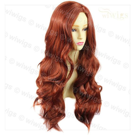 Fabulous Long Layers Wavy Copper Red Ladies Wig by GreatWigShop
