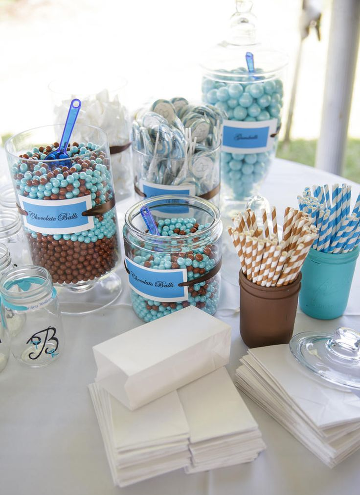 7 Ways to Color Your Candy Buffet | https://www.theknot.com/content/candy-buffet-wedding-ideas