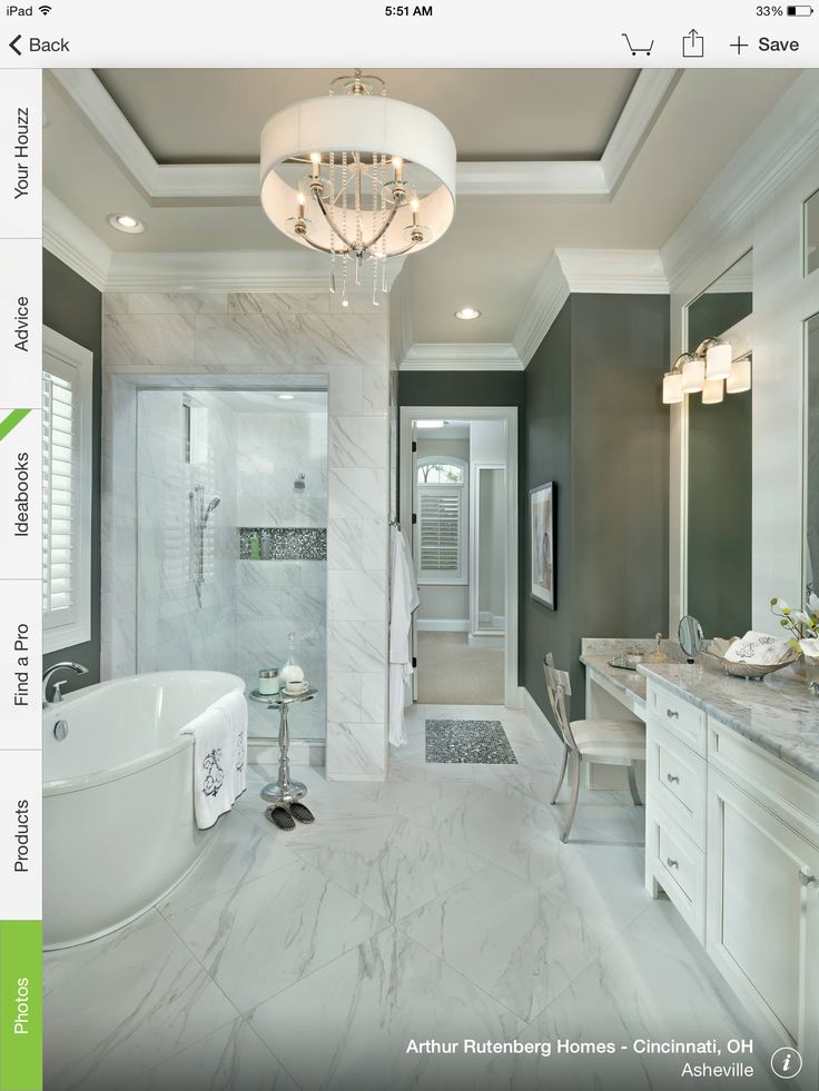 10 Stunning Transitional Bathroom Design Ideas To Inspire You: Vanity Is Sit Down Height