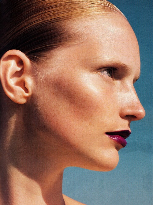 Salz auf unserer Haut. Katrin Thormann photographed by Blaise Reutersward for Vogue Germany, November 2010.
