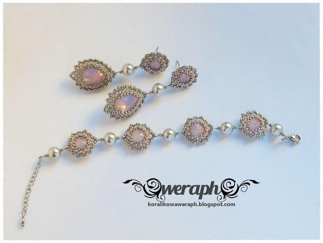 Bridal set pink grey