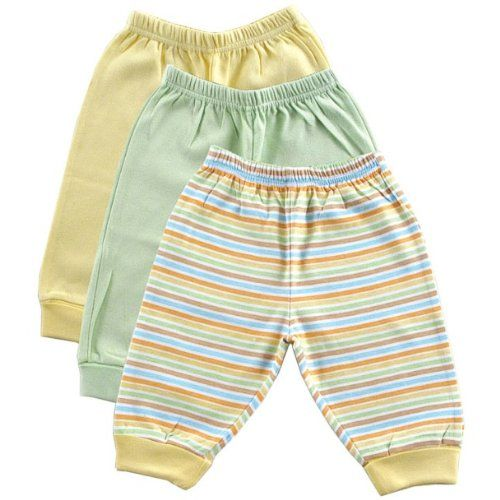 3-Pack Baby Pants, Yellow, 0-3 months [Apparel]