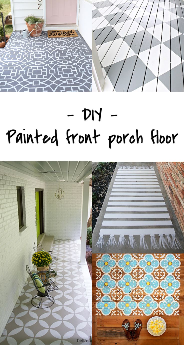 DIY to try - painted porch floors