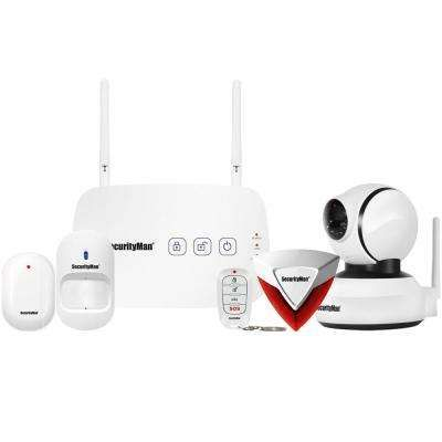Mobile App Based Wireless Home Security Alarm System with Pan-Tilt WiFi IP Camera for Home and Business