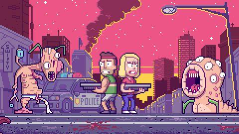 Rick and Morty - Pixel Art IntroFull Intro: YouTube (31 sec) Pixel Artists: Paul Robertson and Ivan Dixon Source: probertson.tumblr.com // pug-of-war.tumblr.com