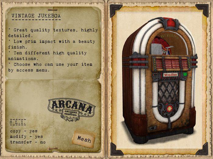 {A} Vintage Jukebox