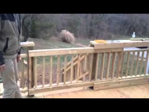 Pool Deck Gate Ideas baby gate building Sliding Deck Gate Youtube