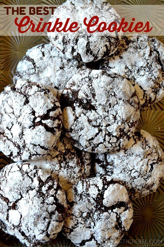 Perfect Chocolate Crinkle Cookies