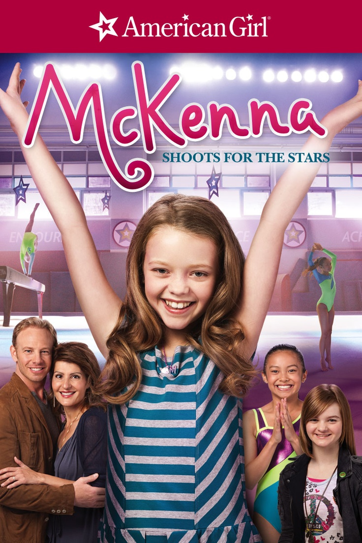 An American Girl: McKenna Shoots For the Stars ---> Our family movie night movie. Rylee's sucked into it right now. She loves gymnastics!! :)