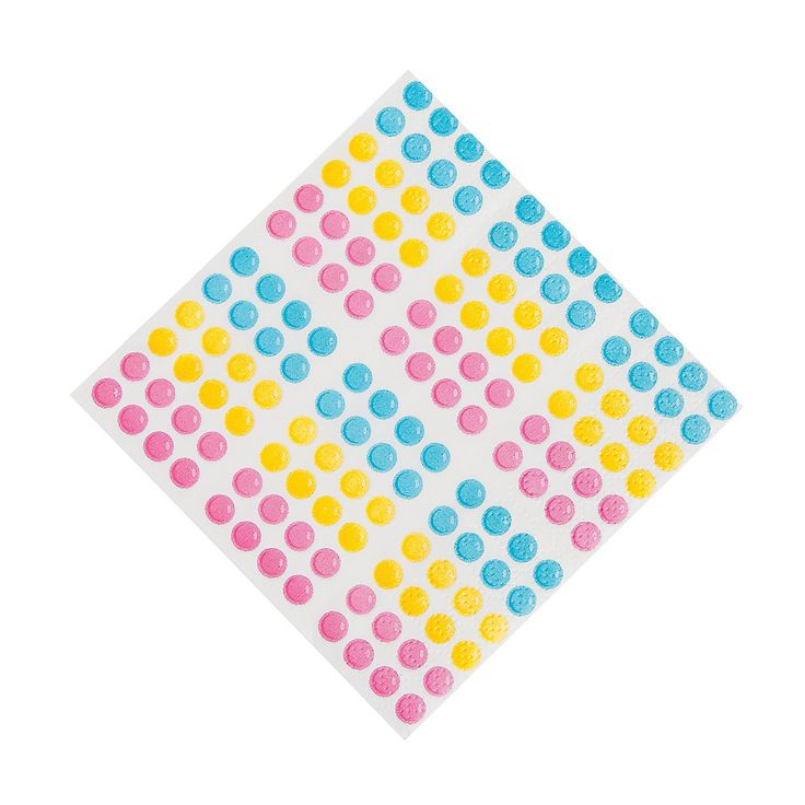 These are cute, but yellow is not one of the colors. I'm not sure if it would matter though, they might be perfect :)Lollipop Lane Beverage Napkins - OrientalTrading.com