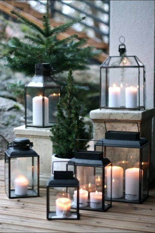 Christmas Candle Lanterns - Industrial Interior Design