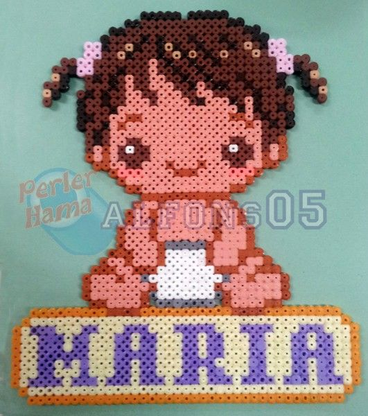 Custom baby girl hama beads by Alfons05