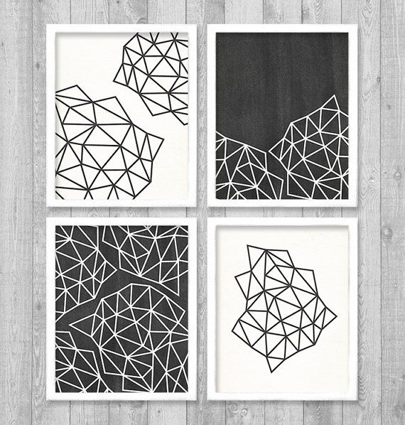 "Geometric Digital Printable Wall Art Print 8""x10"" Set (Jpeg Files) - INSTANT DOWNLOAD - V248 on Etsy, $11.87"