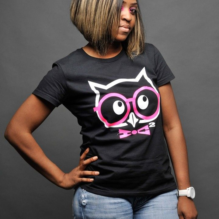 Logo Tee - Black/White/Pink from Inked Genius Clothing Label for $24.99