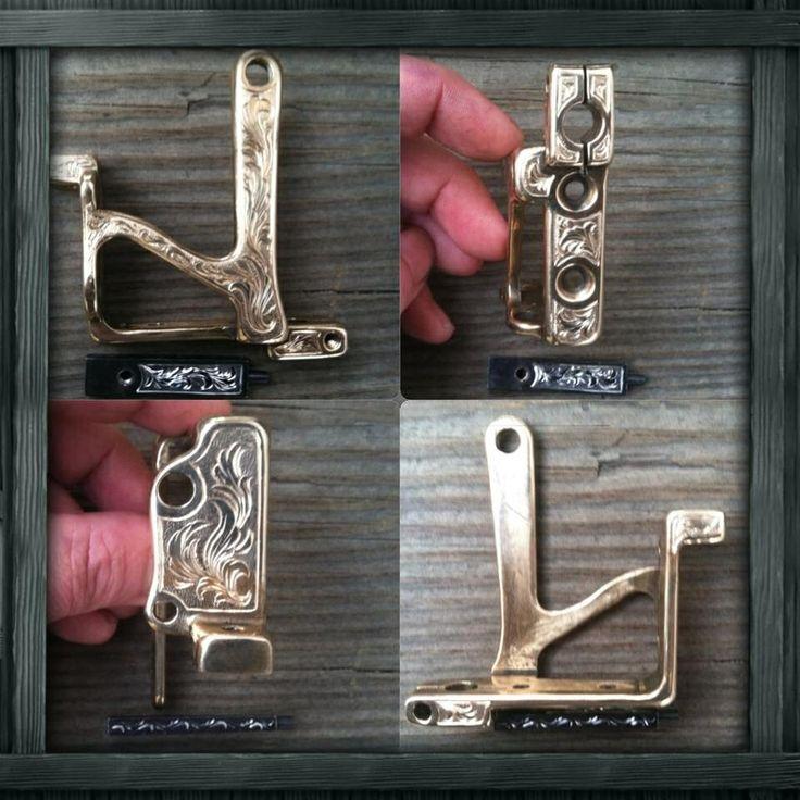 Engraved tattoo machine frame for Matt Binder