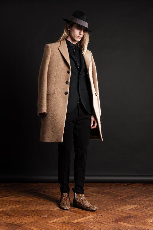 MAISON LVCHINO FW 14/15 Camel Coat, Black Suit & Leopard Pony Boots