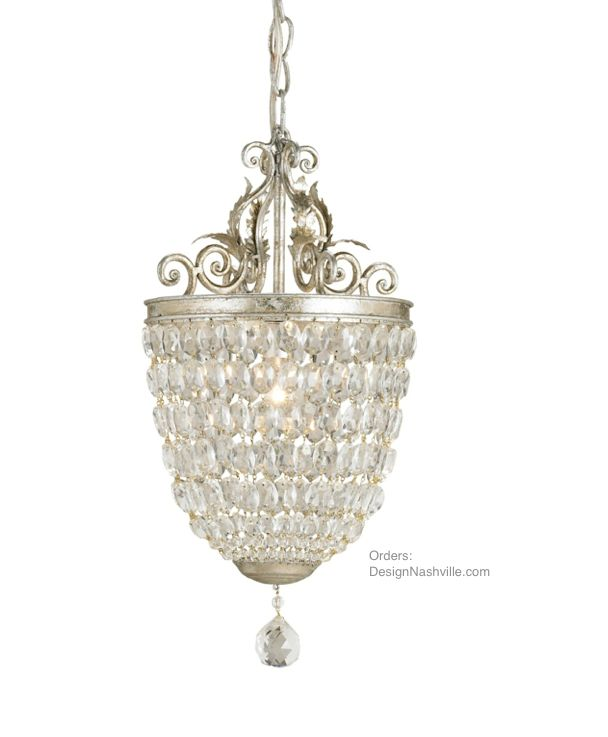 Adoration Crystal Pendant Chandelier Elaborate Scroll Work Tops The Pendent Made Of Closely Positioned Crystals Ideal Where Silvery Grey And Smoke In