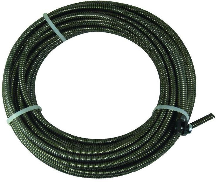 50 Ft. Slotted-End Sewer Plumbing Drain Cleaning Machine Replacement Auger Cable #BrassCraft