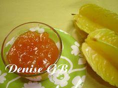 Geléia de Carambola 1 parte de suco de carambolas sem coar 1/2 parte de açucar