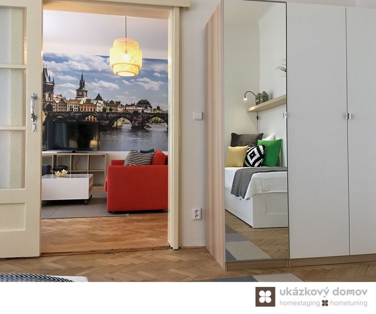 Decorating project for Airbnb apartment in Prague, Czech Republic #bedroom #airbnb #praha #czechrepublic #czech