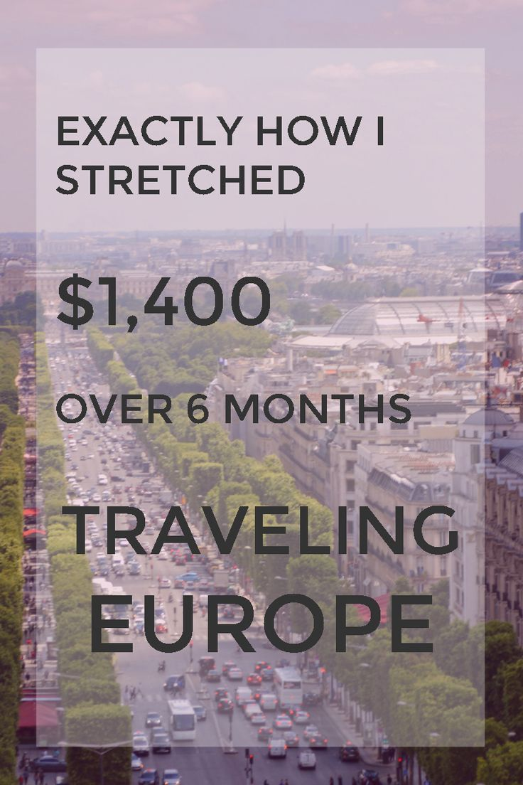 Extreme budget travel in Europe