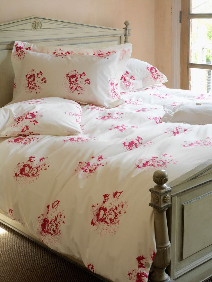 cabbages and roses hatley cerise pillow cases cerise faded pinkfaded grey
