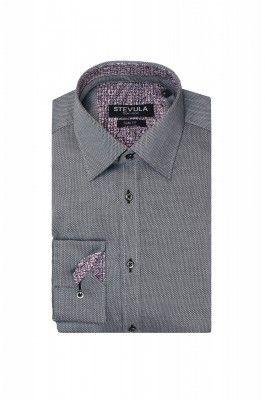 Sivo-čierna pánska košeľa