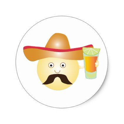 Tequila Emoji Stickers - college stickers unique design cool sticker present gift