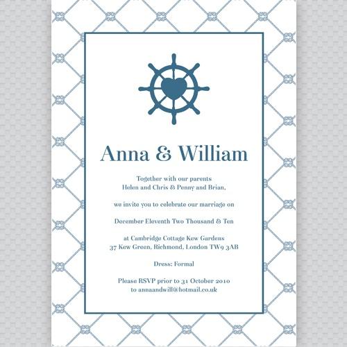Nautical wedding invite - nautical wedding logo