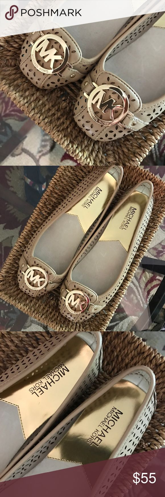 Michael Kors flats Nude color with gold accents MICHAEL Michael Kors Shoes
