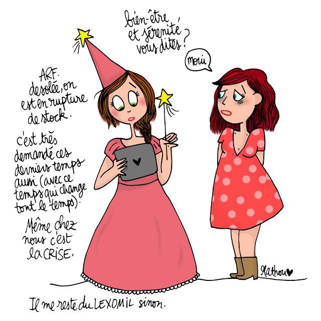 #autodérision :-) zen et happy? ...la quête du graal ;-) http://crayondhumeur.blogspot.fr/