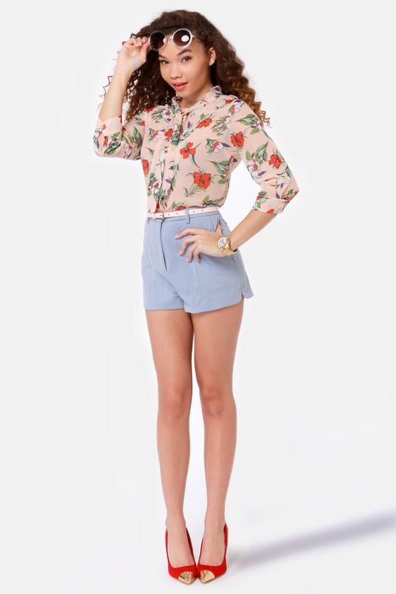 17 Best images about light blue shorts outfits on Pinterest | Lazy ...