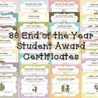 I always get a little teary on the last day of school especially when I pass out these certificates before they head off for summer vacation.  Thes...