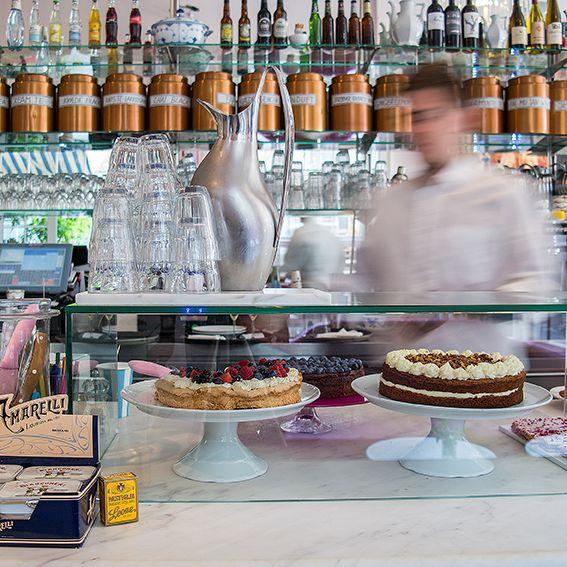 Royal Smushi Cafe - the counter - cakes - tea