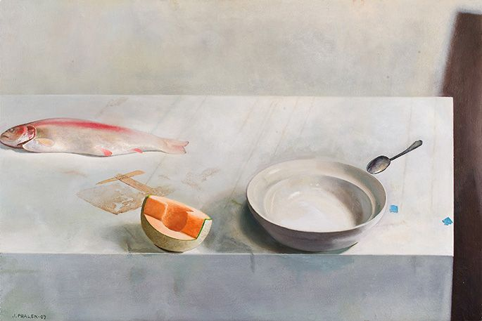 Jim Phalen. Seven Still Lifes, 2007 | Oil on panel | 24 x 36 inches
