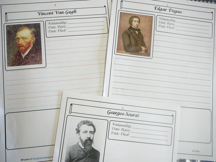 Biography Pages Impressionists
