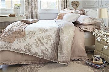 Natural Lace Print Bed Set