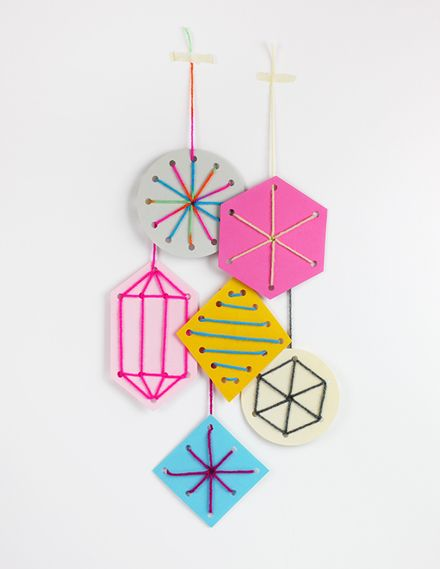 DIY Easy Sewing Cards Ornaments