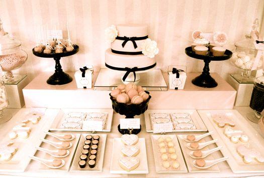 Pink & Black dessert table