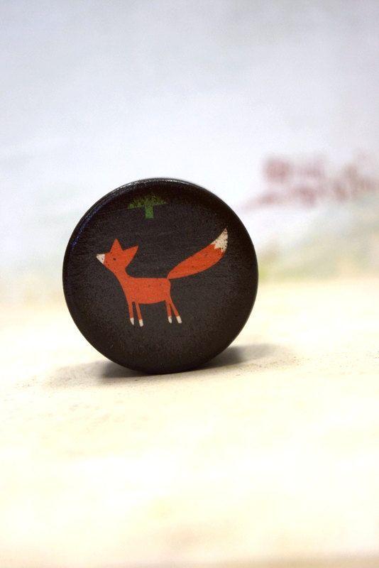 Orange Fox Pill Box - Wood Gift Box, Pill boxes, Small pill box, Ring Bearer Box, Wedding Ring Box, Stocking stuffer, Gift Boxes, Woodland by Mmim on Etsy