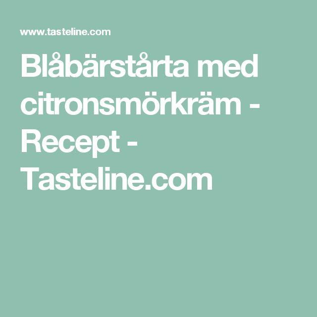 Blåbärstårta med citronsmörkräm - Recept - Tasteline.com