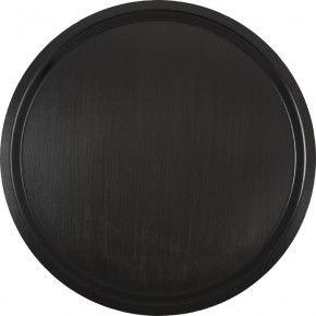 enf svart rund bricka