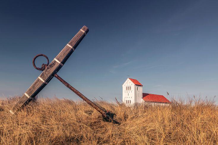 Nr. Lyngvig Kirke (Hvide Sande), Anker, Dänemark, Kirche, Nordsee, Jütland
