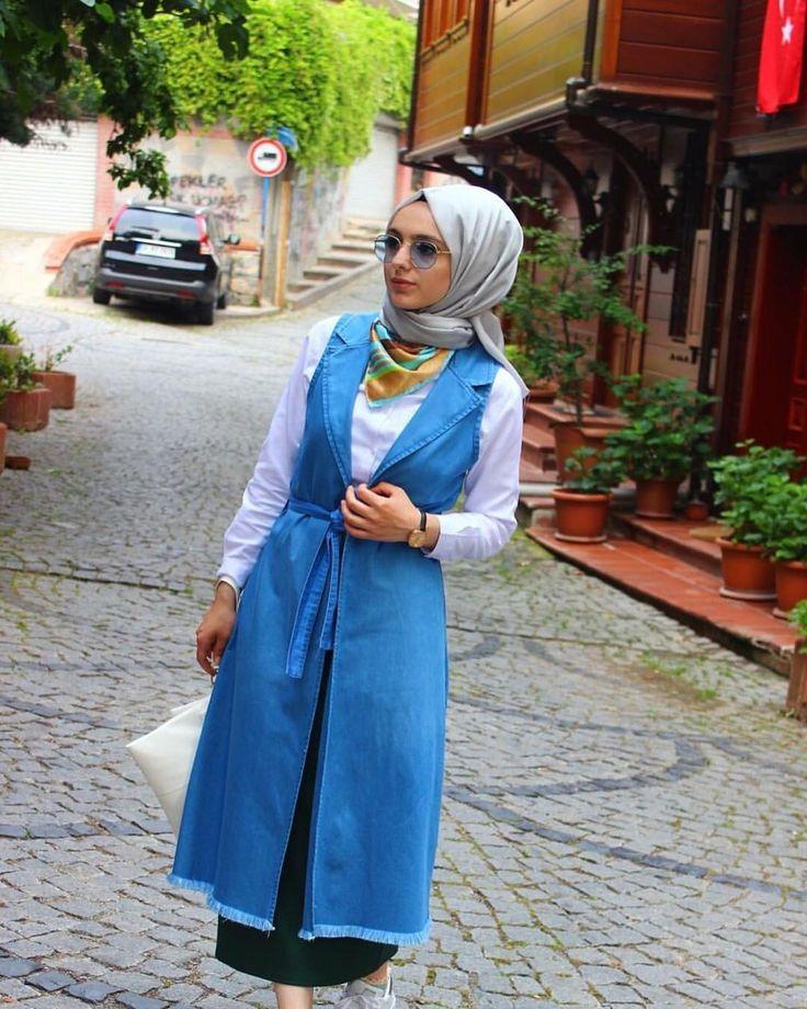 674 vind-ik-leuks, 6 reacties - R A B İ A Y I L D I Z  (@rabia_yildizz) op Instagram: '@nurhiracom 'dan şahane kot yelek'