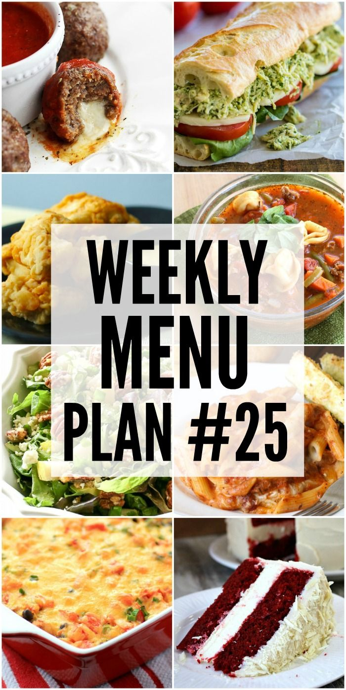 weekly dinner menus