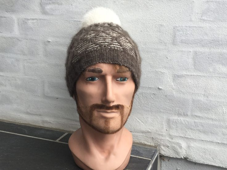 Hand knitted beanie knitted with QIVIUT and Suri alpaca by Made4Umnn on Etsy