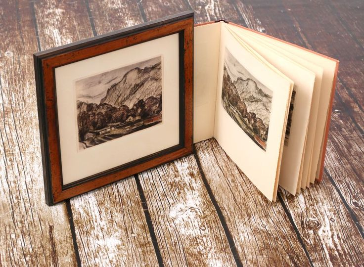 Framing of 6 pieces of book #litography depicting #divokasarka #prague without harming the #book: we scanned amd printed the images on archival paper and #framed them in a frame from Tuscany to match the style od the print. #interiér #customframing #ramovani #ramarstvi #frameitcz #kopie #kniha @ramovani