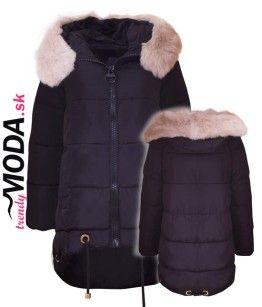 Trendy čierna dámska zimná bunda - trendymoda.sk