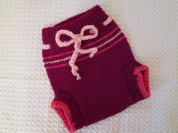 Handknit Wool Diaper Cover Soaker Shorties woolie by Ritaknitsall