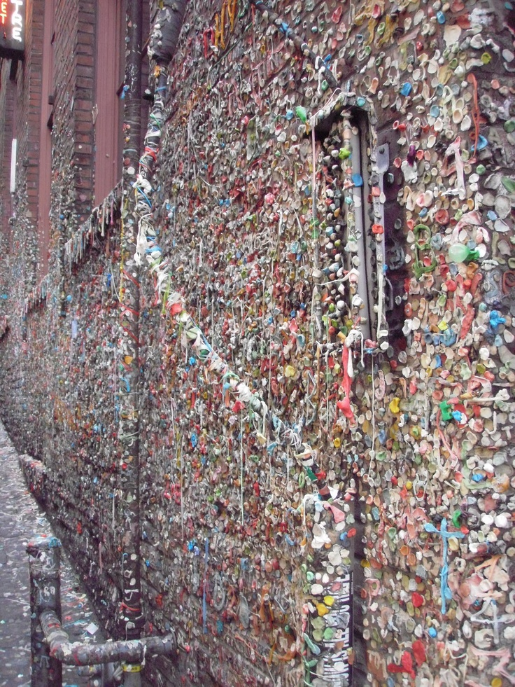 seattle.Seattle'S Gum, Seattle Gum, Wall Seattle, Pike Places, Gum Alley, Bubbles Gum, Gross But, Post Alley, Gum Wall